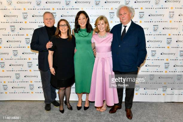 David Zaslav Pam Zaslav Rhea S Suh Anna Scott Carter and Graydon Carter attend NRDC's Night of Comedy Benefit in partnership with Discovery Inc...