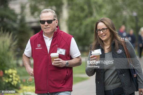 David Zaslav president and chief executive officer of Discovery Communications Inc left arrives for the morning sessions during the Allen Co Media...