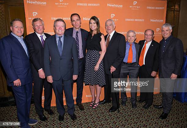 David Zaslav Thomas M Rutledge Steve Kroft Josh Sapan Savannah Guthrie Bill Persky Donald Newhouse Bob Miron and David Levy attend the Mirror Awards...