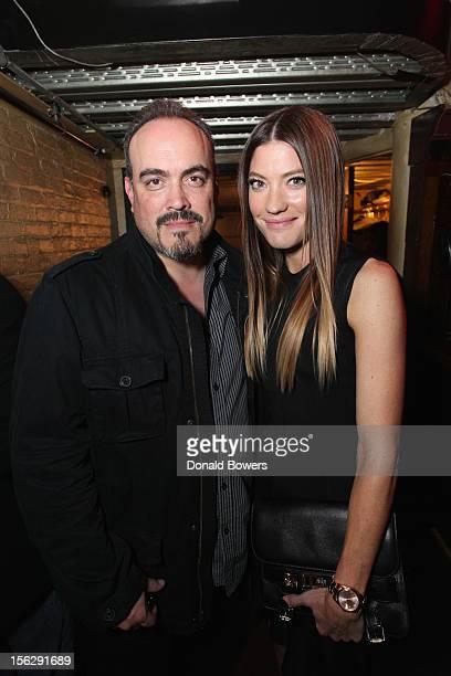 David Zayas and Jennifer Carpenter attend The GenArt & Vikingfjord Vodka Present The NY Premiere Of Ex-Girlfriends at Tribeca Cinemas on November 12,...