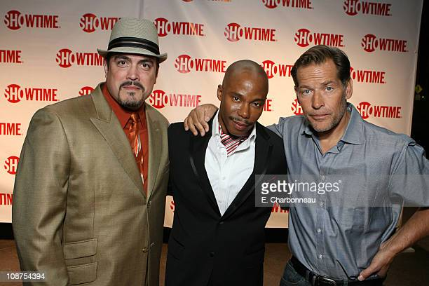 David Zayas Erik King and James Remar during The Premiere of Showtime's Drama Series Dexter at Director's Guild of America in Hollywood California...