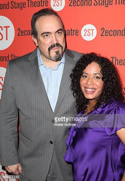 David Zayas & Liza Col��n-Zayas attending the Second Stage Theatre Company's Off-Broadway Opening Night Celebration of the 2012 Pulitzer Prize...