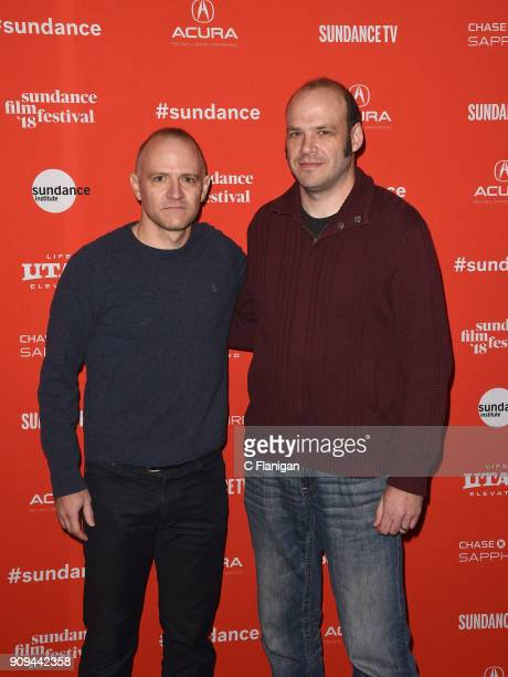 David Zellner and Nathan Zellner attend the 'Damsel' Premiere during the 2018 Sundance Film Festival at Eccles Center Theatre on January 23 2018 in...
