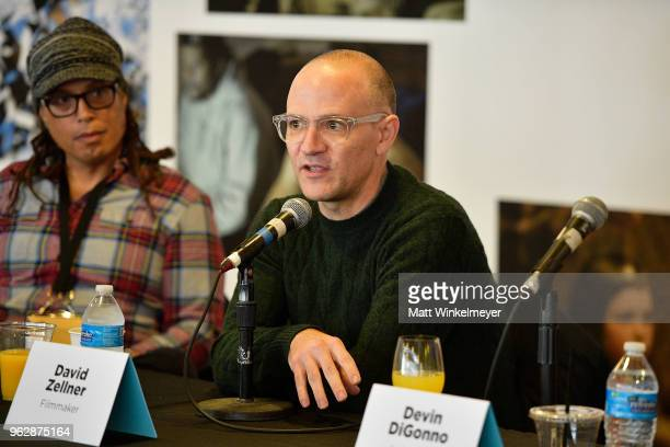 David Zellner speaks onstage during the 2018 Mammoth Lakes Film Festival on May 26 2018 in Mammoth Lakes California