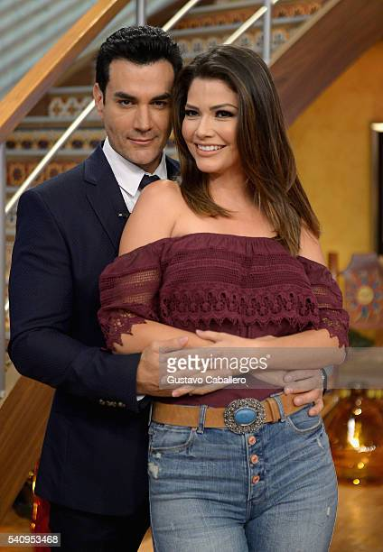 David Zepeda and Ana Patricia Gamez are seen on the set of 'Despierta America' at Univision Studios on June 17 2016 in Miami Florida