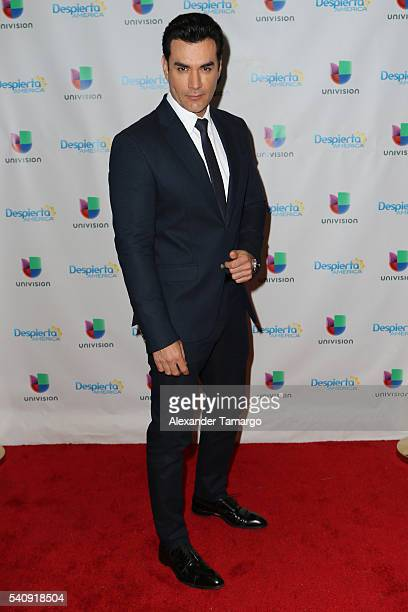 David Zepeda is seen on the set of 'Despierta America' at Univision Studios on June 17 2016 in Miami Florida