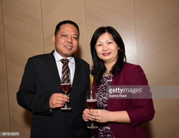 David Zhao and Laura Beldin attend Launch Of New Entity Withers Global Advisors at 432 Park Avenue on April 3 2018 in New York City David ZhaoLaura...