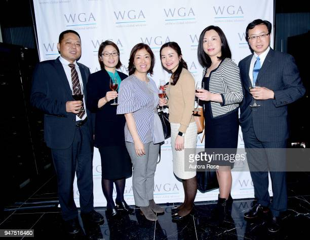 David Zhao Lian Fang Maryann Shaw Gengsheng Lu Joanne Wong and Andy Zhong attend Launch Of New Entity Withers Global Advisors at 432 Park Avenue on...