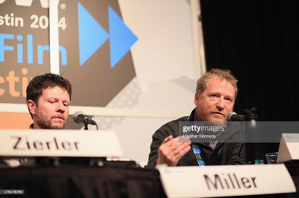 David Zierler, President of INgrooves (L) and Lee Miller, President of the Nashville Songwriters Association International speak onstage at 'Love the Art, Fuck the Artist: The Re-emerging Artist Rights Movement?' during the 2014 SXSW Music, Film + Interactive at Austin Convention Center on March 13, 2014 in Austin, Texas.