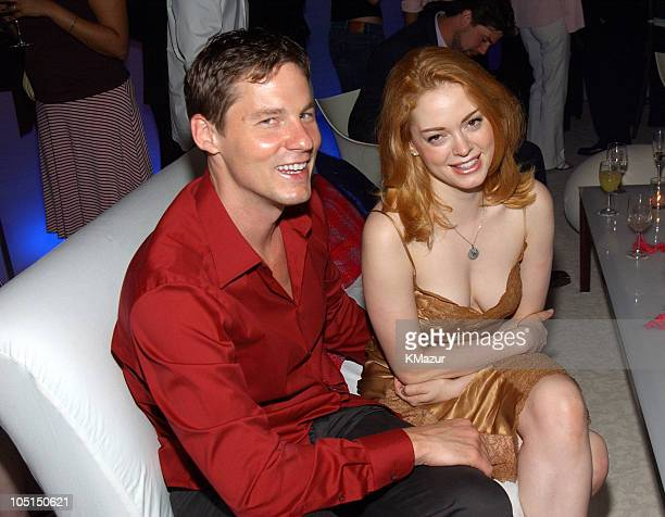 David Zinczenko and Rose McGowan during 'Legally Blonde 2 Red White Blonde' Premiere New York City After Party at Christie's in New York City New...