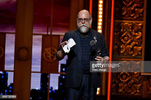 David Zinn accepts the award for Best Scenic Design of a Play onstage during the 70th Annual Tony Awards at The Beacon Theatre on June 12 2016 in New...