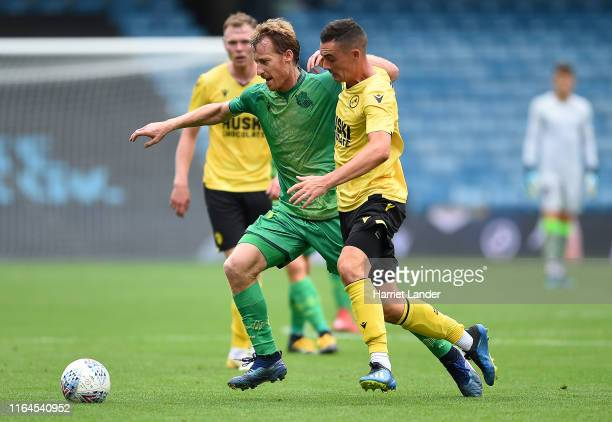 David Zurutuza of Real Sociedad battles for possession with Shaun Williams of Millwall during the Pre-Season Friendly between Millwall and Real...