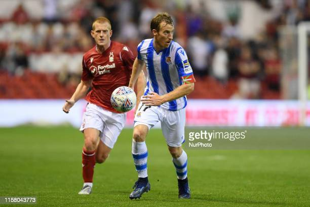 David ZURUTUZA of Real Sociedad during the Pre-season Friendly match between Nottingham Forest and Real Sociedad de Ftbol, S.A.D at the City Ground,...