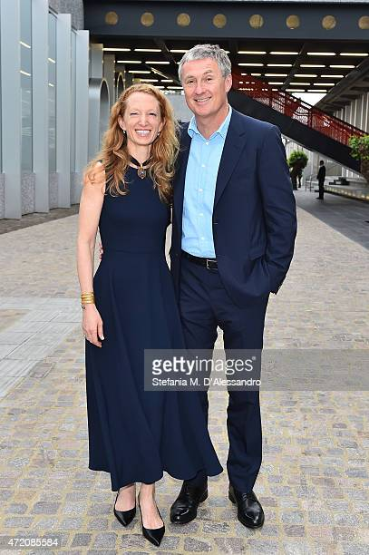 David Zwirner and Monica Zwirner attend the Fondazione Prada Opening on May 3 2015 in Milan Italy