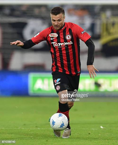 Davide Agazzi of Foggia Calcio 1920 in action during the Serie B match between Ascoli Picchio FC 1898 and Foggia Calcio 1920 at Stadio Cino e Lillo...