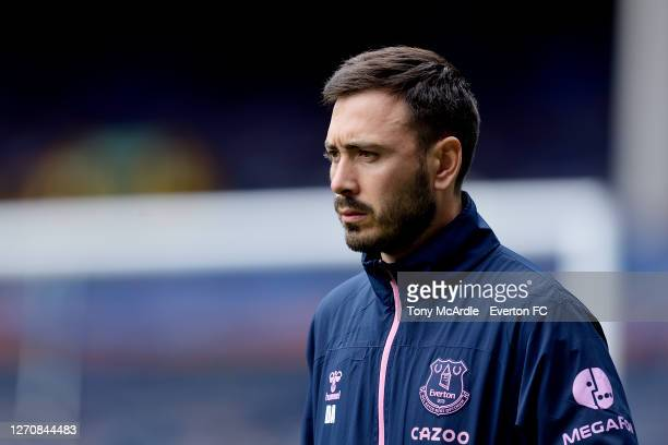 Davide Ancelotti of Everton during the PreSeason Friendly match between Everton and Preston North End at Goodison Park on September 5 2020 in...