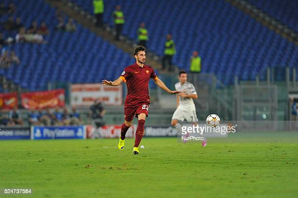 Davide Astori during the UEFA Champions League group E football match AS Roma vs CSKA Moskova at Rome's Olympic Stadium on September 17 2014