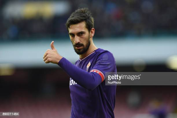 Davide Astori of ACF Fiorentina during the Serie A TIM match between SSC Napoli and ACF Fiorentina at Stadio San Paolo Naples Italy on 10 December...