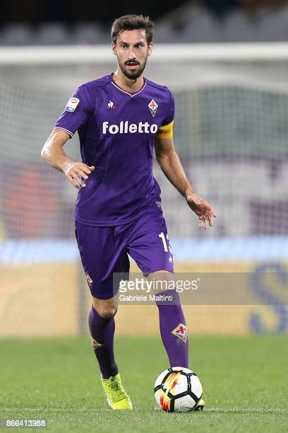 Davide Astori of ACF Fiorentina in action during the Serie A match between ACF Fiorentina and Torino FC at Stadio Artemio Franchi on October 25 2017...