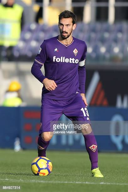 Davide Astori of ACF Fiorentina in action during the Serie A match between ACF Fiorentina and US Sassuolo at Stadio Artemio Franchi on December 3...