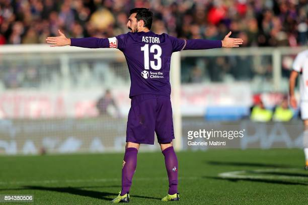 Davide Astori of ACF Fiorentina in action during the Serie A match betweenACF Fiorentina and Genoa CFC at Stadio Artemio Franchi on December 17 2017...