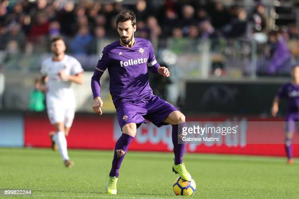 Davide Astori of ACF Fiorentina in action during the serie A match between ACF Fiorentina and AC Milan at Stadio Artemio Franchi on December 30 2017...