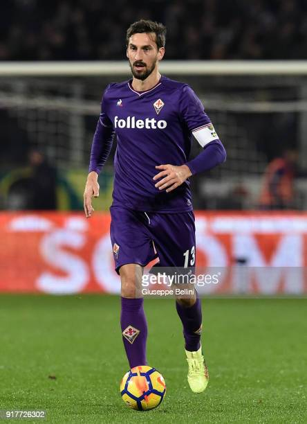 Davide Astori of ACF Fiorentina in action during the serie A match between ACF Fiorentina and Juventus at Stadio Artemio Franchi on February 9 2018...