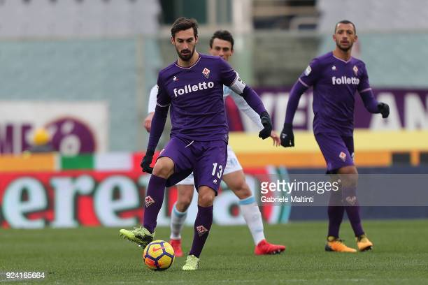 Davide Astori of ACF Fiorentina in action during the serie A match between ACF Fiorentina and AC Chievo Verona at Stadio Artemio Franchi on February...