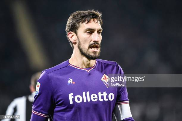 Davide Astori of Fiorentina during the Serie A match between Fiorentina and Juventus at Stadio Artemio Franchi Florence Italy on 9 February 2018