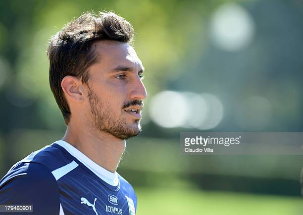 Davide Astori of Italy during a training session at Coverciano on September 4 2013 in Florence Italy