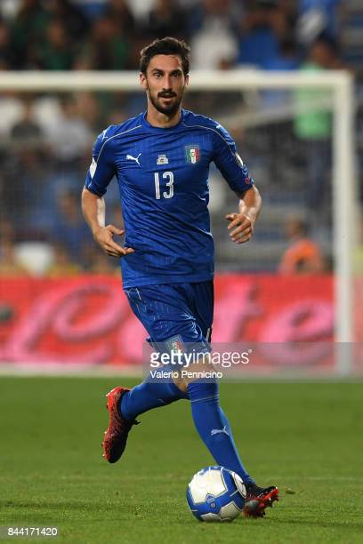 Davide Astori of Italy in action during the FIFA 2018 World Cup Qualifier between Italy and Israel at Mapei Stadium Citta' del Tricolore on September...