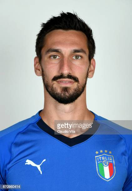 Davide Astori of Italy poses during the official portrait session at Coverciano on November 6 2017 in Florence Italy