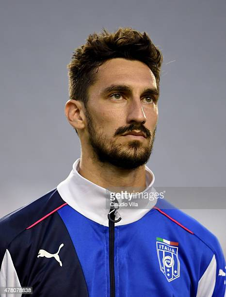 Davide Astori of Italy poses prior to the UEFA Euro 2016 Qualifier between Croatia and Italy on June 12 2015 in Split Croatia