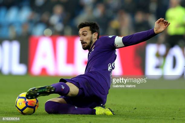 Davide Astrori of ACF Fiorentina in action during the Serie A match between Spal and ACF Fiorentina at Stadio Paolo Mazza on November 19 2017 in...