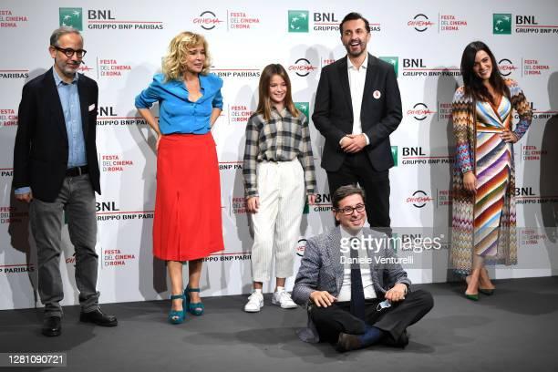 Davide Azzolini, Valeria Golino, Cristina Magnotti, Antonio Monda, Director Nicolangelo Gelormini and Pina Turco attend the photocall of the movie...