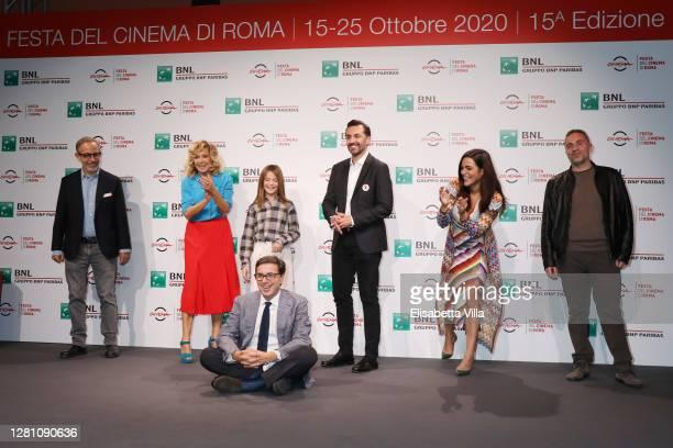 Davide Azzolini, Valeria Golino, Cristina Magnotti, Antonio Monda, Director Nicolangelo Gelormini, Pina Turco and Massimiliano Virgilio attend the...
