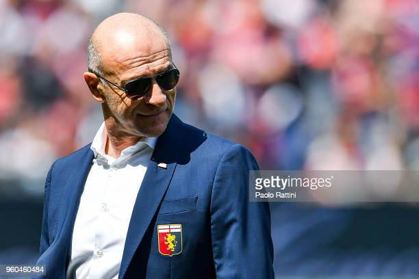 Davide Ballardini coach of Genoa before the serie A match between Genoa CFC and Torino FC at Stadio Luigi Ferraris on May 20 2018 in Genoa Italy
