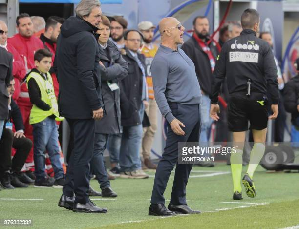 Davide Ballardini Genoa coach in action during the AC Crotone vs Genoa match of Italian Serie A The Genoa wins 10