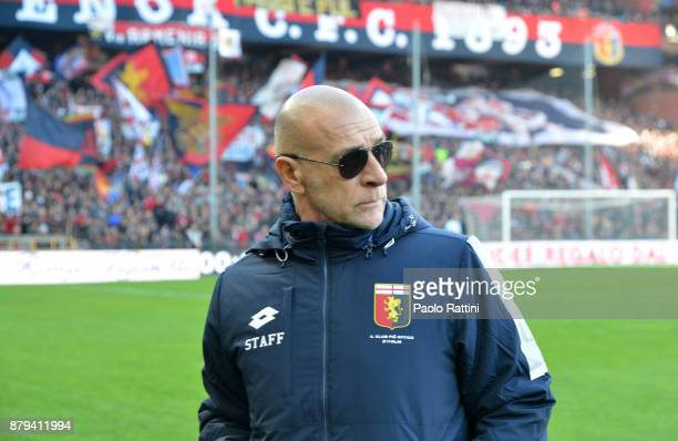 Davide Ballardini head coach of Genoa during the Serie A match between Genoa CFC and AS Roma at Stadio Luigi Ferraris on November 26 2017 in Genoa...