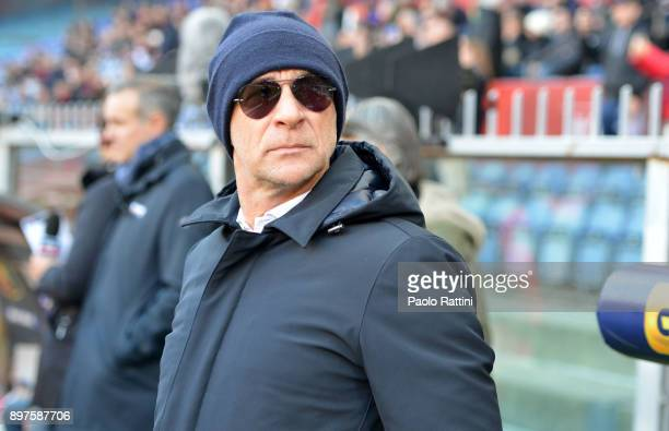 Davide Ballardini head coach of Genoa during the serie A match between Genoa CFC and Benevento Calcio at Stadio Luigi Ferraris on December 23 2017 in...