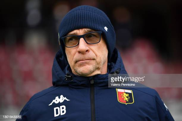 Davide Ballardini, head coach of Genoa looks on prior to the Serie A match between Torino FC and Genoa CFC at Stadio Olimpico di Torino on February...