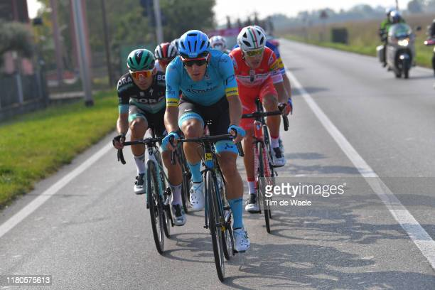 Davide Ballerini of Italy and Astana Pro Team / Fausto Masnada of Italy and Team Androni GiocattoliSidermec / Cesare Benedetti of Italy and Team...