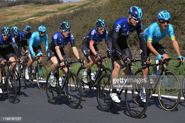 Davide Ballerini of Italy and Astana Pro Team / Filippo Ganna of Italy and Team Sky / Salvatore Puccio of Italy and Team Sky / Thomas Geraint of he...