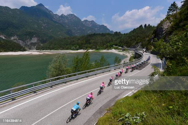 Davide Ballerini of Italy and Astana Pro Team / Joe Dombrowski of The United States and Team EF Education First / James Whelan of Australia and Team...