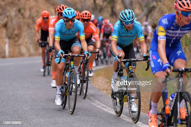 Davide Ballerini of Italy and Astana Pro Team / Manuele Boaro of Italy and Astana Pro Team / during the 21st Santos Tour Down Under 2019 Stage 2 a...