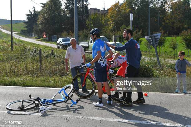 Davide Ballerini of Italy and Team Androni Giocattoli / Mikel Landa Meana of Spain and Movistar Team / Crash / during the 23rd Gran Premio Bruno...