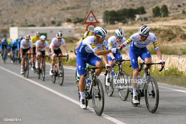 Davide Ballerini of Italy and Team Deceuninck QuickStep / Tim Declerq of Belgium and Team Deceuninck QuickStep / Feed Zone / during the 71st Volta a...