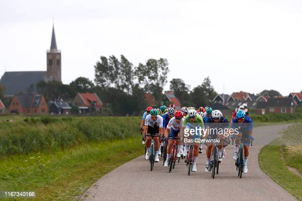 Davide Ballerini of Italy / Florian Senechal of France / Peloton / Church / during the 25th UEC Road European Championships 2019 - Elite Men's Road...