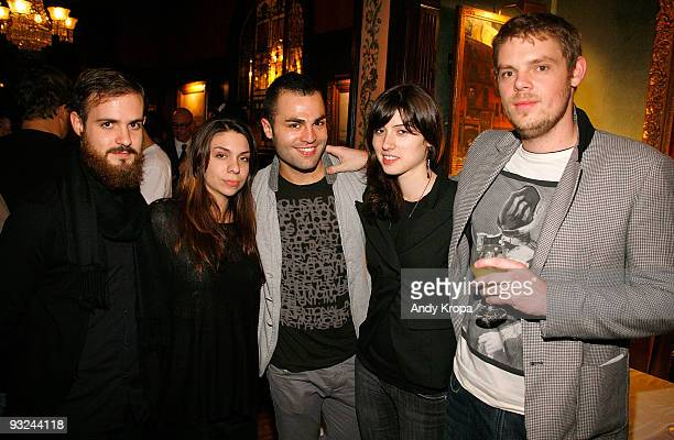 Davide Balliano Jessica Cox Igor Josifov Milica Zec and Cameron Jackson attend a performance by artist Terence Koh at The National Arts Club on...