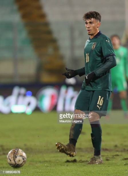 Davide Bettella of Italy during the UEFA U21 European Championship Qualifier match between Italy and Armenia at Stadio Angelo Massimino on November...